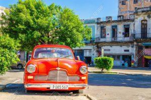 HAVANA CUBA-RED CAR